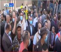 وزير النقل يتفقد موقع حادث قطار طوخ..فيديو