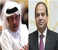أمير قطر يعزي الرئيس السيسي في ضحايا حادث قطار الركاب بالقليوبية