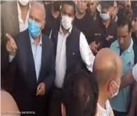 وصول وزير النقل لموقع حادث قطار طوخ لمتابعة تجديد القضبان