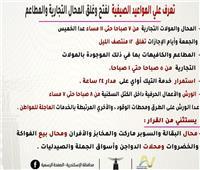 المواعيد الصيفية لفتح وغلق المحال التجارية في الإسكندرية
