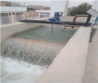 بالصور.. بدء التشغيل التجريبي لمحطة مياه الفرجان بـ«بني مزار»