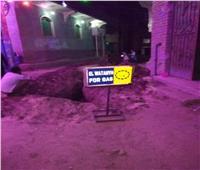 مد مواسير الغاز الطبيعي بمنطقة «الهلايل» بمدينة أرمنت الحيط