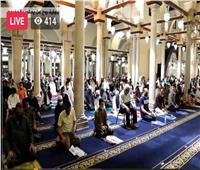 شاهد | شعائر صلاتي العشاء والتراويح ليلة 9 رمضان بالجامع الأزهر
