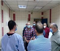 نائب محافظ الجيزة يتفقد مستشفى بولاق العام ليلا
