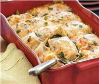 مطبخ رمضان   رافيولي بالسبانخ والجبن الريكاتو
