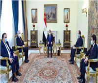 الرئيس السيسي يستقبل رئيس الكونجرس اليهودي العالمي