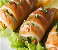 المأكولات البحرية  طريقة عمل الكاليماري المحشي بالجمبري