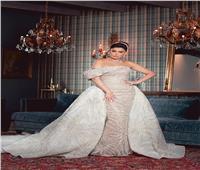 صور | غادة عبد الرازق تشعل السوشيال ميديا بفستان زفاف للبحيري