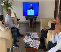 اتحاد الكرة يبحث مع شوقي غريب برنامج الأولمبي بعد «قرعة طوكيو»