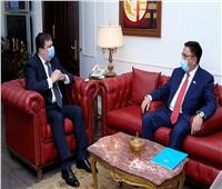 حسين زين يستقبل سفيركازاخستان بالقاهرة لبحثالتعاون الإعلامي
