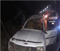 بالاسماء .. إصابة 7 في حادث انقلاب سيارة بطريق السويس