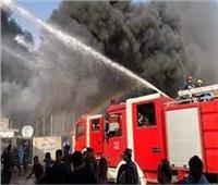 أمن القاهرة يسيطر على حريق شب داخل سوق بمدينة السلام