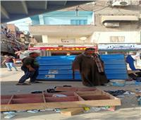 حملة على الباعة الجائلين لإزالة الإشغالات بشبين القناطر