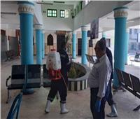 حملات تطهير وتعقيم موسعة لكافة المنشآت الخدمية بمحافظة أسيوط