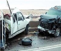 إصابة 3 اشخاص في حادث سيارتين في المنيا