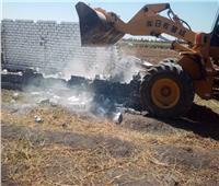 إزالة 3 حالات تعدي بالبناء على الأراضي الزراعية بالبحيرة