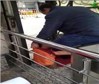 استمرار التحقيقات في واقعة فيديو تعدي أمن نادي طنطا على صبي| صور