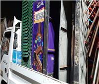 إزالة 384حالة تعدي في حملة بمركز الواسطى ببني سويف