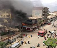 حريق هائل في إحدى العمارات ببني سويف والحماية المدنية تسيطر