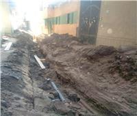 «حياة كريمة» تصل قرية الحسانية بالقليوبية لتوصيل الصرف الصحي