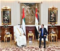 تفاصيل لقاء الرئيس السيسي مع الشيخ محمد بن زايد ولى عهد أبو ظبي