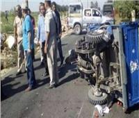 إصابة ٥ أشخاص فى انقلاب «تروسيكل» بوادى النطرون