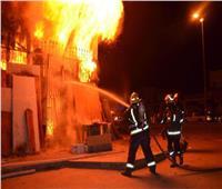 إخماد حريق منزلين في المنيا بسبب ماس كهربائي