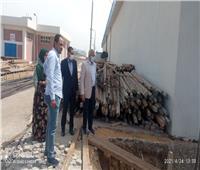 رئيس شركة مياه المنوفية يتفقد محطة معالجة دناصور بالشهداء