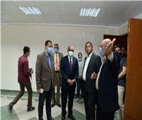 رئيس جامعة أسيوط يتفقد أعمال البنية التحتية للقرية الأولمبية
