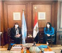 وزيرة التعاون الدولي تبحث مع المنسق المقيم للأمم المتحدة برامج التعاون المشتركة