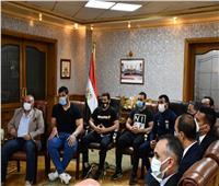 وزير الرياضة يجتمع مع أبطال المصارعة الرومانية المتأهلين لأولمبياد طوكيو