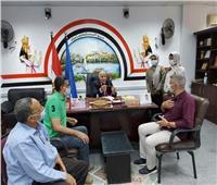 وكيل تعليم أسوان يستقبل اللجنة النقابية للحرف اليدوية