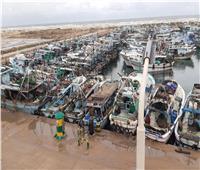 بسبب الرياح.. توقف حركة الصيد والملاحة بميناء البرلس بكفر الشيخ
