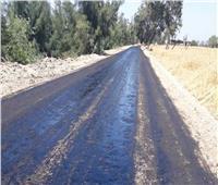 رصف طريق السلام العصيات بـ«بني مزار» فى المنيا ضمن مبادرة حياة كريمة