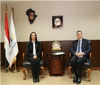مايا مرسي تستقبل سفير المانيا بالقاهرة لبحث سبل التعاون المستقبلية