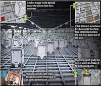 3000 روبوت يتنقلون في شبكة في وقت واحد لملء طلبات البقالة| فيديو