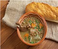 شوربة العدس باللحم على مائدة الفطور | مطبخ رمضان