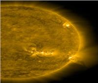 الشمس تطلق سحب غاز على الكرة الأرضية وانفجار نافورة نارية 30 أبريل