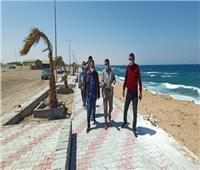 للحفاظ على المظهر العام.. استمرار أعمال التطوير بشاطئ وكورنيش القصير