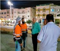 رئيس مدينة مرسى علم يتفقد أعمال النظافة بالشوارع