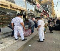 حملات لشرطة المرافق لتطهير عباس العقاد من الباعة الجائلين