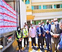 قوافل أبواب الخير تحمل 80 طن أغذية للأولى بالرعاية في كفر الشيخ| صور