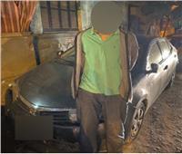 سقوط المتهم بسرقة سيارة وبداخلها طفلين بمصر الجديدة