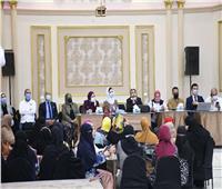 وفد جامعة المنصورة يشارك في المشروع القومي حياة كريمة