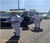 مصرع سيدة في انقلاب سيارة بطريق الإسكندرية الصحراوي
