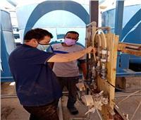 صيانة منظومة الكلور في محطات مياه القناة استعدادا لفصل الصيف