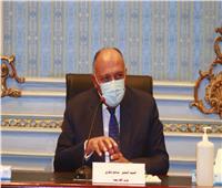 «سامح شكري» بالشيوخ: أزمة سد النهضة تواجه تعنت إثيوبي رافضا بعض الواساطات