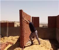وقف أعمال بناء مخالف بالبساتين