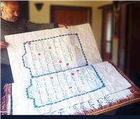 بعد 3 أعوام ونصف.. سوري يكتب القرآن الكريم بخط يده |صور