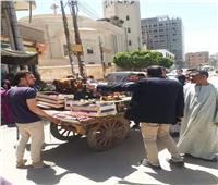 فض تجمعات الباعة الجائلين في المنيا